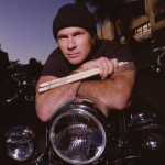 Chad Smith drum sticks motorcycle