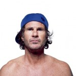 Chad Smith wearing a blue baseball cap