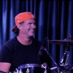 Chad Smith playing drums Iridium 2010