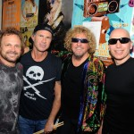 Chad Smith in skull t-shirt with Chickenfoot