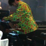 Josh Klinghoffer in lime spotty top