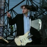 Josh Klinghoffer playing white guitar