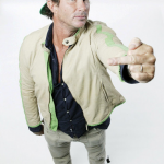 Chad Smith wearing green