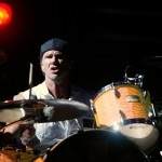 Chad Smith playing the drums