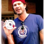 chad smith holding a cd