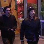 RHCP: Josh Klinghoffer& Anthony Kiedis attend Lakers game