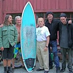 RHCP: Josh Klinghoffer, Anthony Kiedis, Chad Smith & Flea at Al Jardine's home