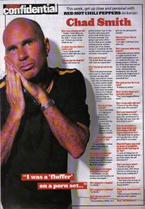 Chad Smith interview for Kerrang Confidential