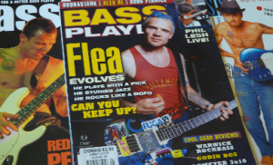 RHCP Flea bassist magazine scans and articles Red Hot Chili Peppers