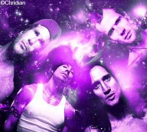 chridian-RHCP art red hot chili-peppers purple montage