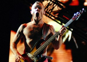 Funkadelic Flea bass player RHCP