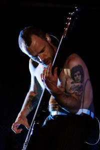 Amazing photo Flea slapping bass