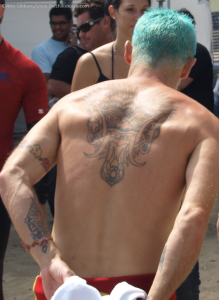 Flea RHCP back tattoo Red Hot Chili Peppers