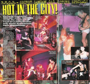 Subterania secret RHCP show London 1995, kerrang review