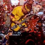 Red Hot Chili Peppers Flea ticker tape