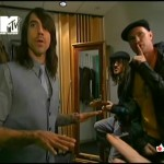 RHCP MTV Total Request Live Chad Smith Anthony Kiedis backstage