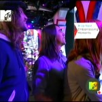 RHCP MTV Total Request Live Anthony kiedis watching TV screen