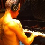 flea recording new RHCP paino playing album tweet photo 2011