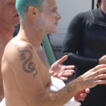 Flea s snake tattoo Surfrider September 2010 TheChiliSource RHCP