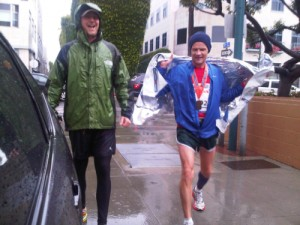 Flea RHCP and Edward Norton after Honda LA Marathon