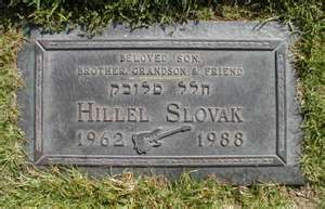 Hillel Slovak RHCP tombstone 1988