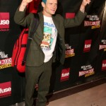 Flea bassist Red Hot Chili Peppers turquoise hairstyle