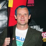 Flea bassist Red Hot Chili Peppers turquoise hair