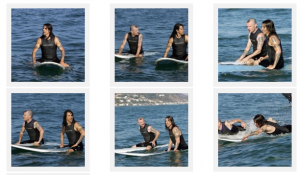 Anthony Kiedis  Flea Red Hot Chili Peppers surfing barracudas