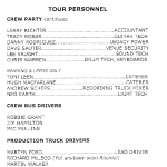 Red Hot Chili Peppers Tour personnel information 2007 tour personnel