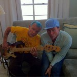 red Hot chili Peppers turquoise hair flea chad matching cap