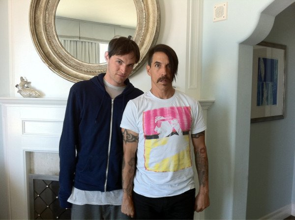 Photo of Anthony Kiedis & his friend  Eoghan McDermott