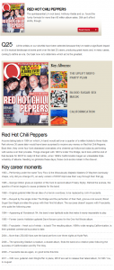 red hot chili peppers greatest band vote for