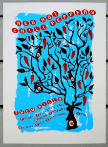 Red Hot Chili Peppers Miners Foundry Nedava City California Poster