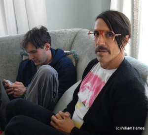 red hot chili peppers new guitarist Josh Klinghoffer with vocalist Anthony Kiedis