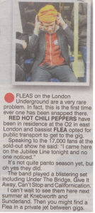 Flea Red Hot Chili Peppers journey to O2 Arena RHCP concert