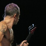 Flea bassist Red Hot Chili Peppers Live LG Arena Birmingham November 2011
