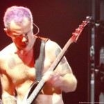 Flea purple hair bassist Red Hot Chili Peppers Live LG Arena Birmingham November 2011
