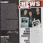 Rhythm-February-2000-Chad-Smith-RHCP-award