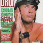 Drum-July-1999-Chad-Smith-helmet-cover