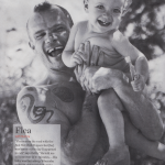 Flea with baby daughter