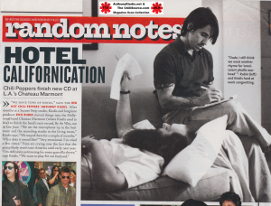 Red Hot Chili Peppers finish By The War Los in LA hotel