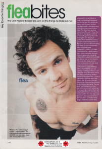 Flea Red Hot Chili Peppers Q & A session with photo
