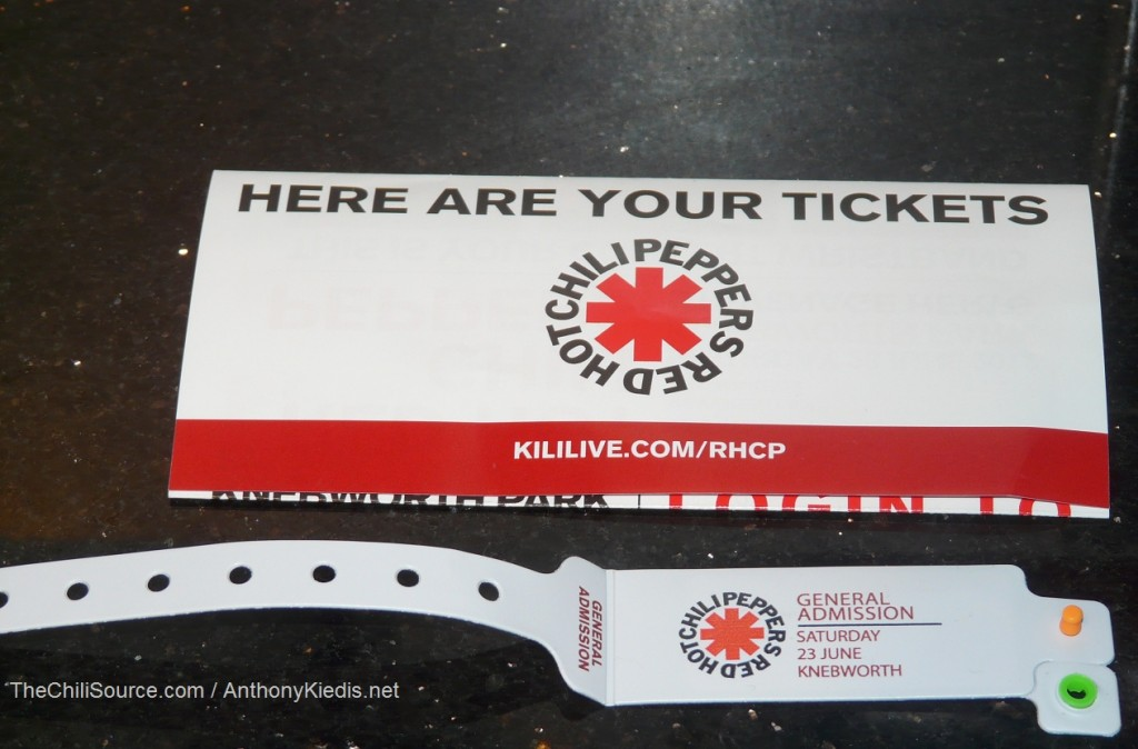 Red Hot Chili Peppers Knebworth wristband
