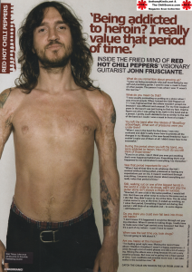 John frusciante talks about using herion as a valuable experience