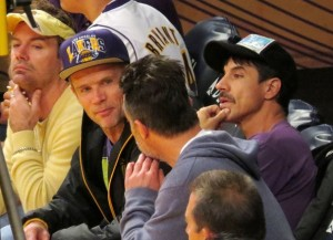 Flea Anthony Kiedis courtside LA Lakers game