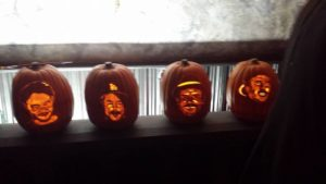 kroq-rhcp-halloween-ball-carved-pumpkins