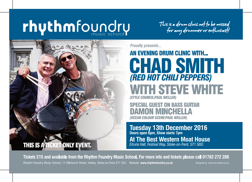chad-smith-drum-clinic-stoke-on-trent